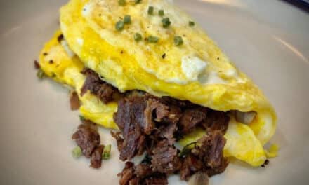 Black Bear and Mushroom Omelette – Breakfast is served…